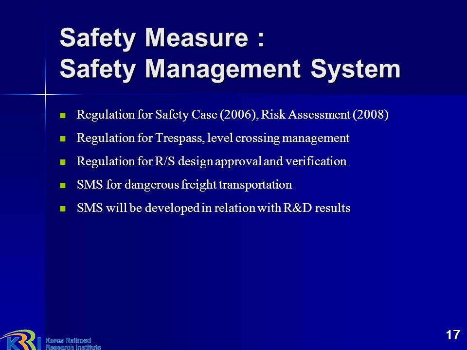 Safety Measure : Safety Management System