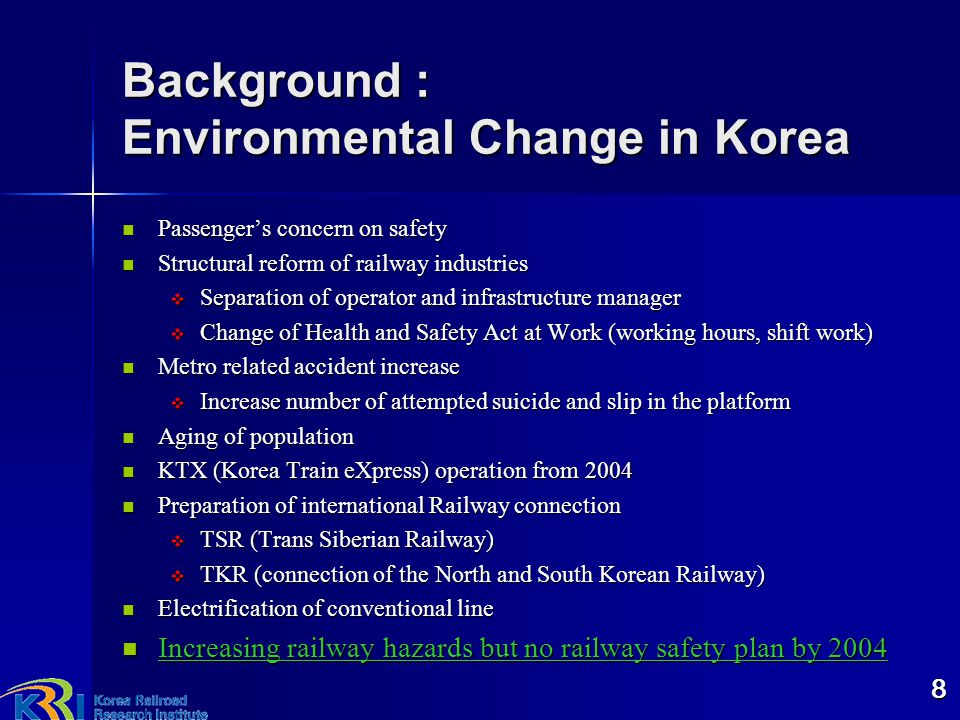 Background : Environmental Change in Korea