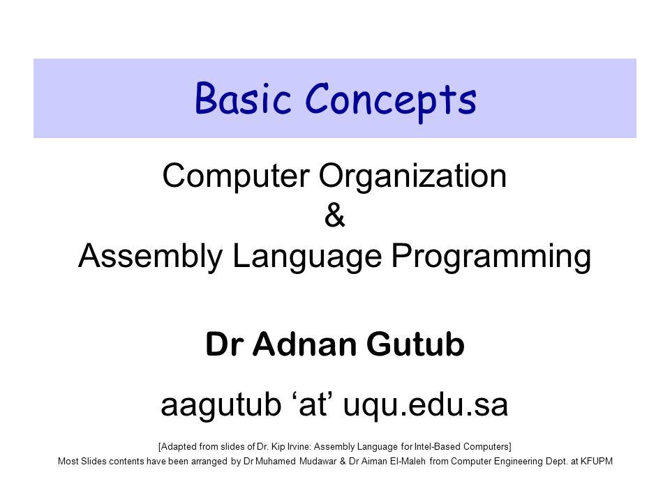 Basic Concepts Computer Organization & Assembly Language ...