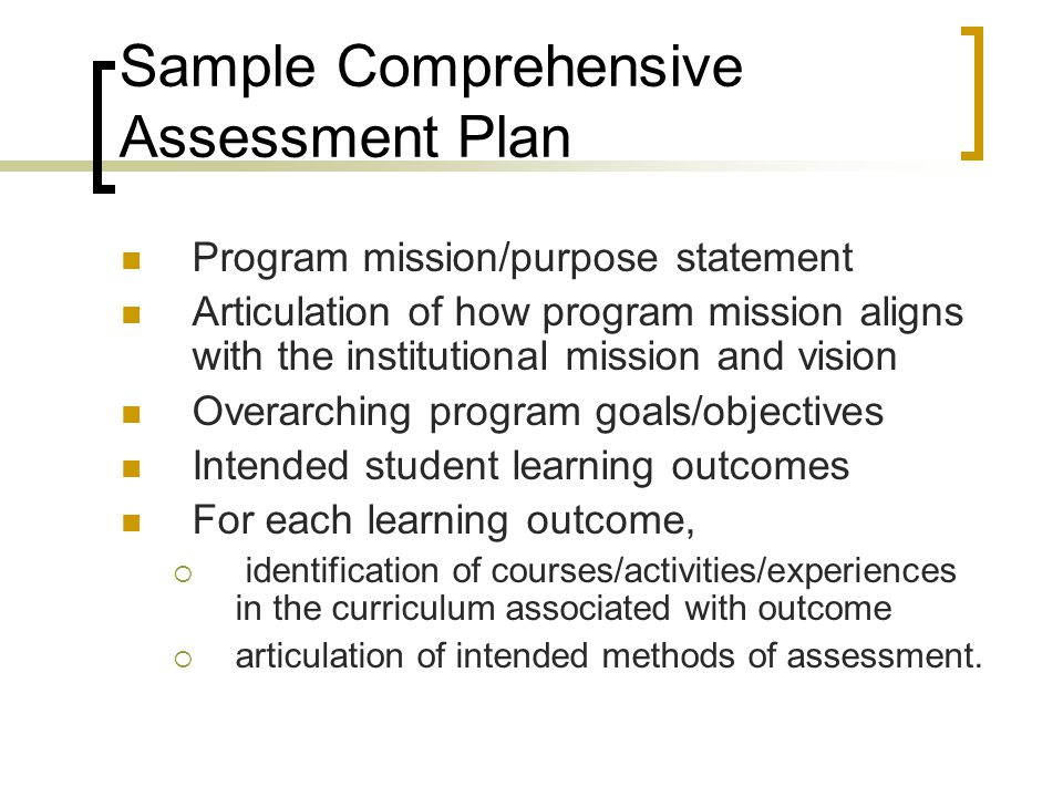 Assessment Of Program Learning Outcomes Workshop  Ppt Video