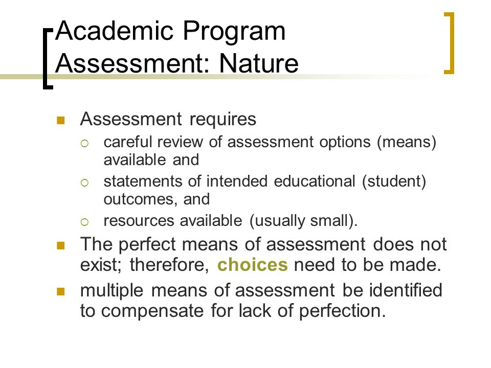 multiple means of student assessment essay Assessment student informative brochure  which means you may qualify for an exemption in one area  contains a multiple-choice section and an essay section.