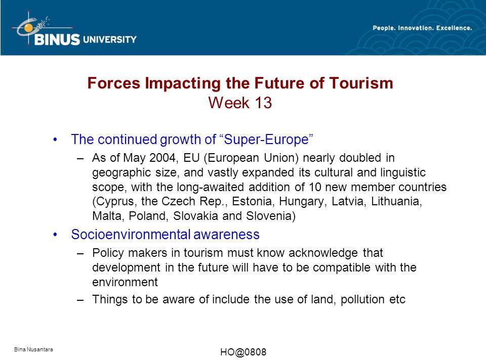 future trends tourism