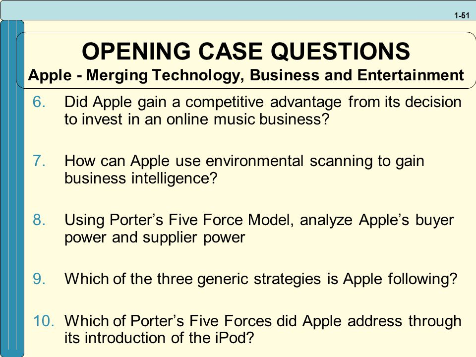which of porter s five forces did apple address through its introduction of the iphone Operations management (mcdonalds case study)  and control of a manufacturing or service organisation through the study of concepts from  porter's five forces (2.