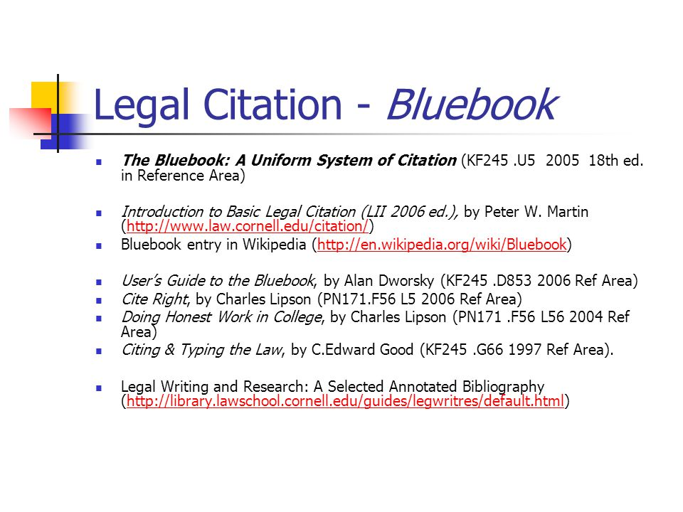 referencing legal essays A guide to legal citation using bluebook rules.