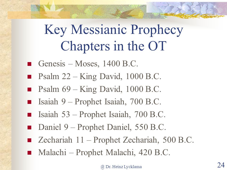 Prophecies Come True Messianic Others Ppt Download