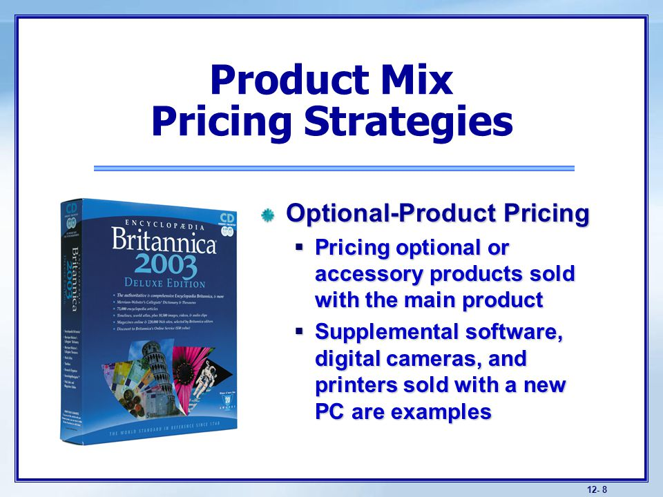 product mix pricing strategies with example The impact of marketing-orientated pricing on product mix pricing strategies an empirical study on the mobile telecommunication product mix pricing strategies.