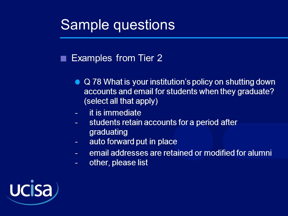 Sample questions Examples from Tier 2