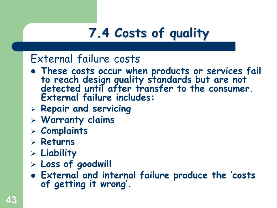 assessing quality cost of getting wrong Read our quality assessment guidelines here if you're planning to sell your  the  description you provide of your tech directly influences the price we offer for it   as a result of items being returned to the incorrect address as a result of your.