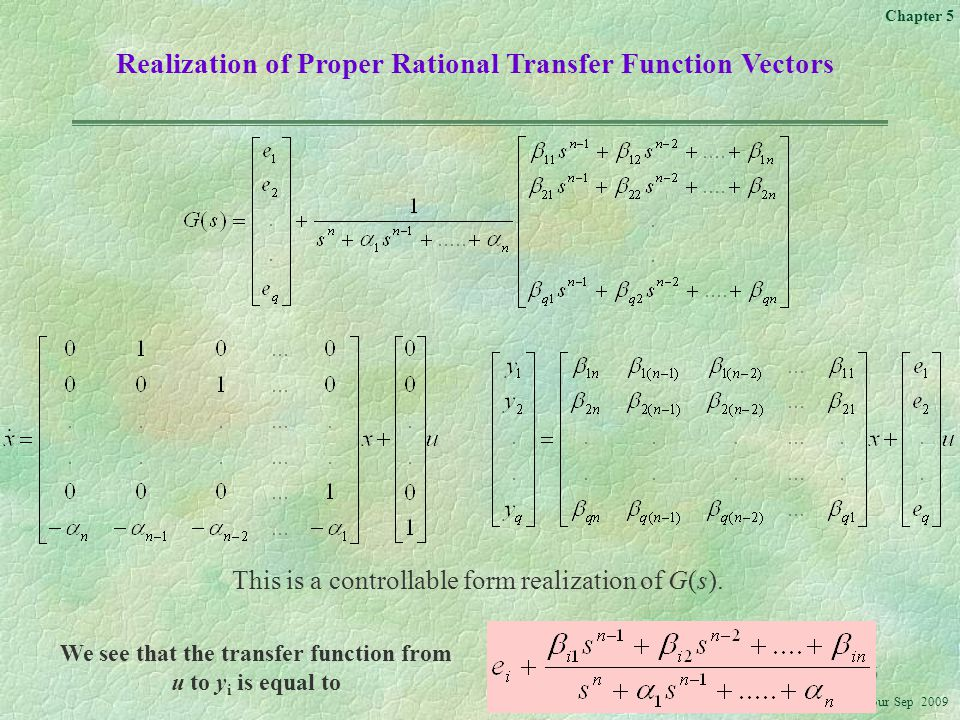 We see that the transfer function from
