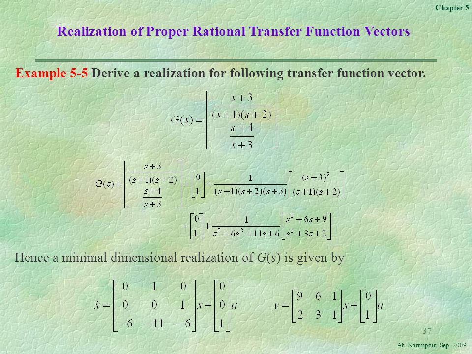 Realization of Proper Rational Transfer Function Vectors