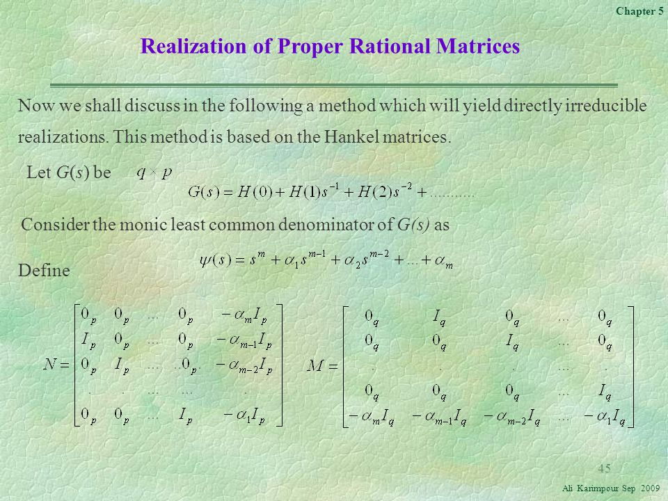 Realization of Proper Rational Matrices
