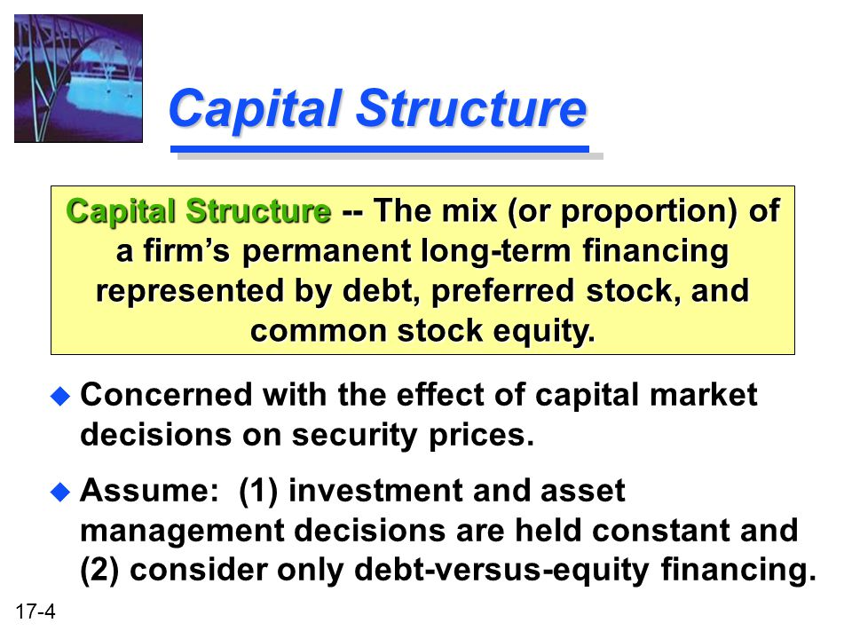 debt versus equity financing paper 1 Taxation papers the debt-equity tax bias: consequences and  working paper n33  there are however other non-tax reasons why debt- and equity-financing may be.