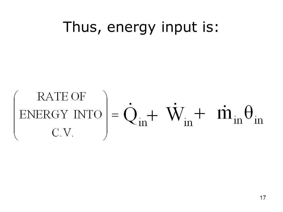 Thus, energy input is: