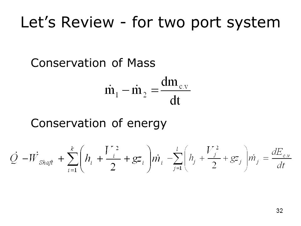 Let's Review - for two port system