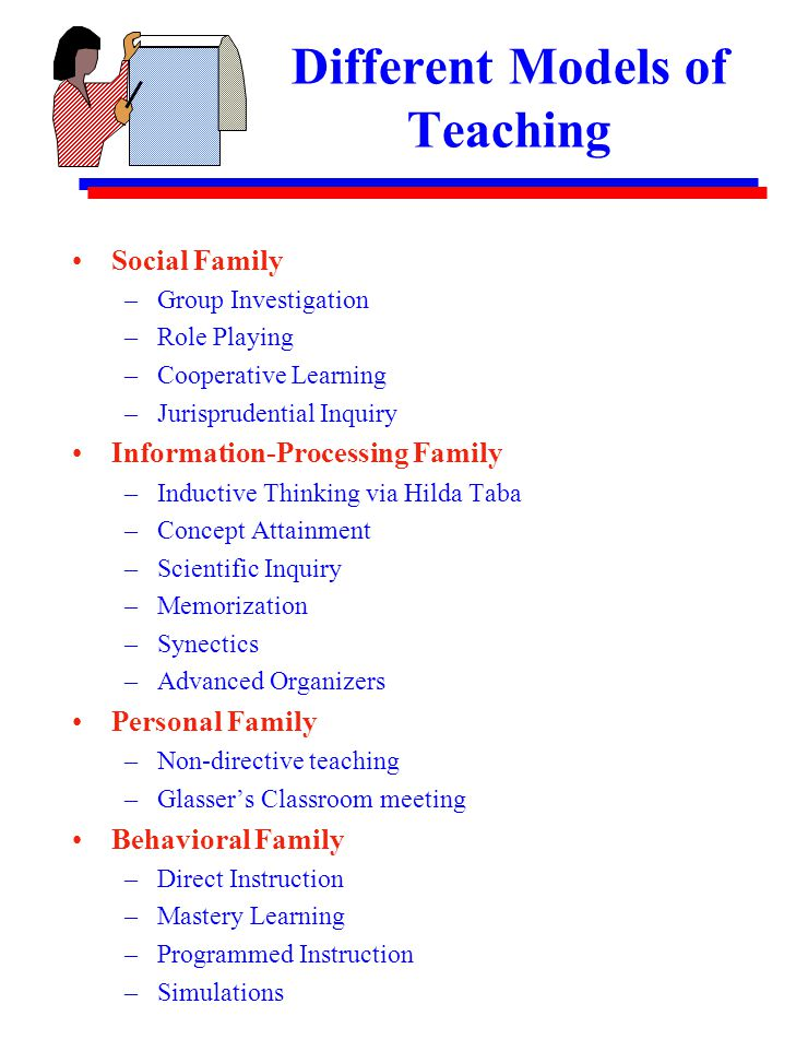different models of teaching pdf