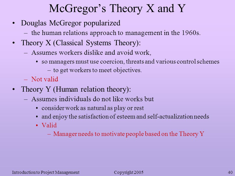 relationship between mcgregors theory x and y Theory x and theory y - douglas mcgregor's theories of motivation.