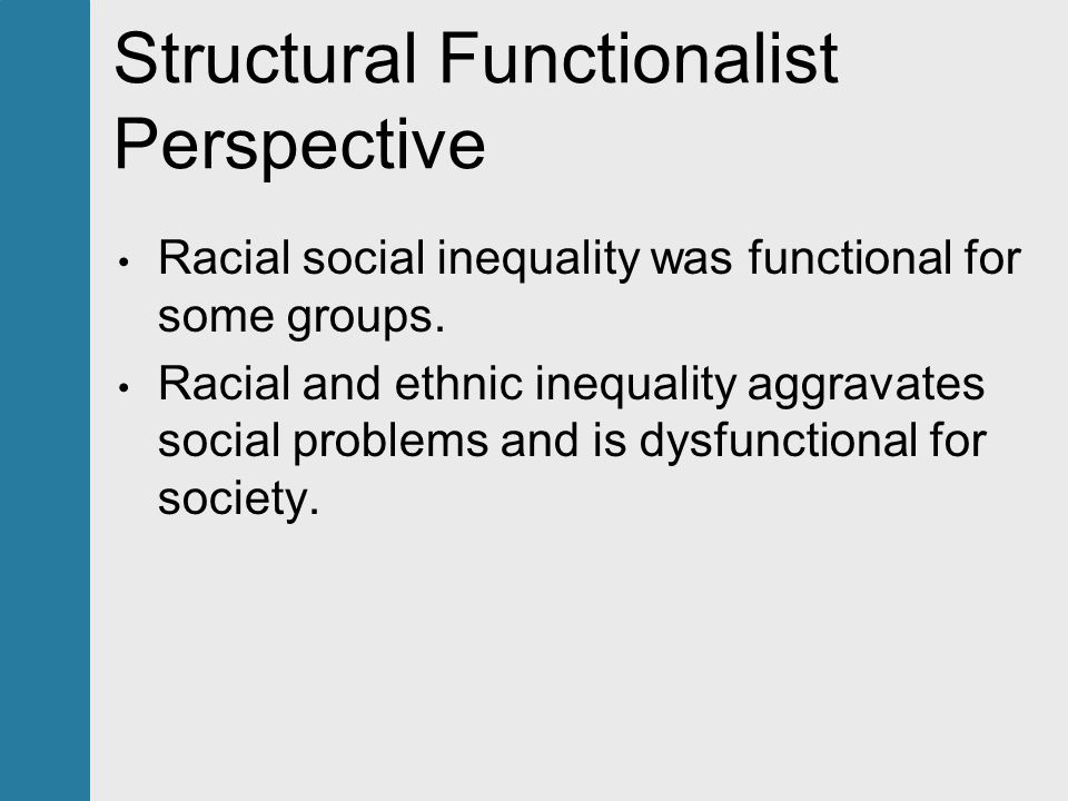 functionalist perspective on racism Posts about functionalist perspective written by socl120.