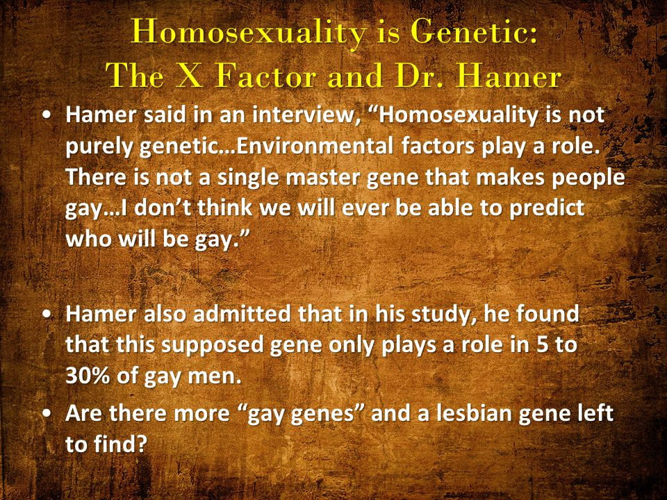 Dr dean hamer the gay gene