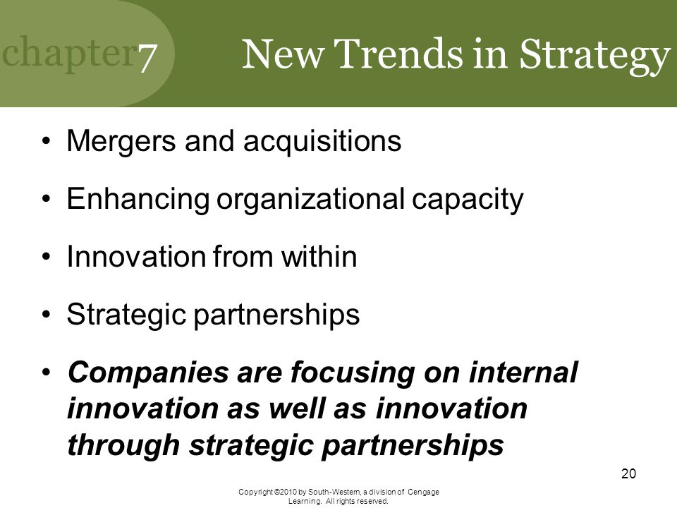 New Trends in Strategy Mergers and acquisitions