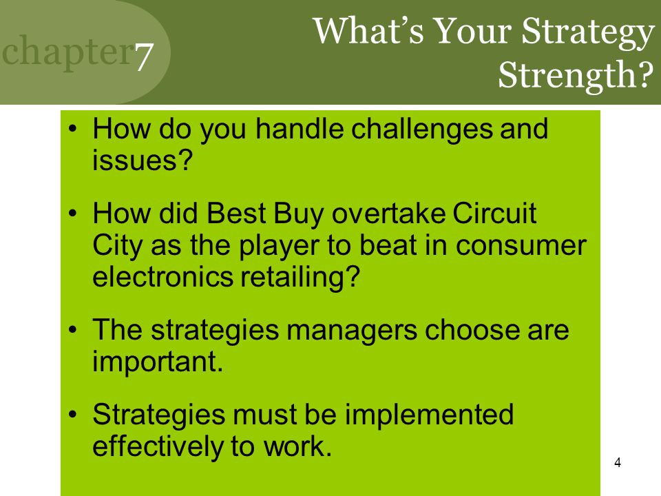 What's Your Strategy Strength