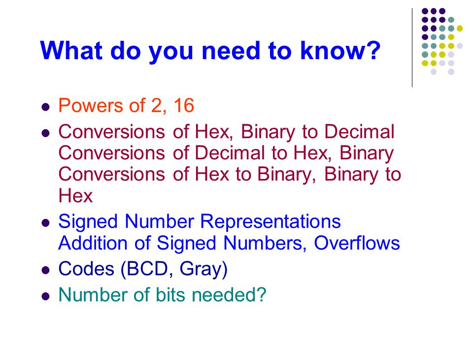 Binary to hex signed