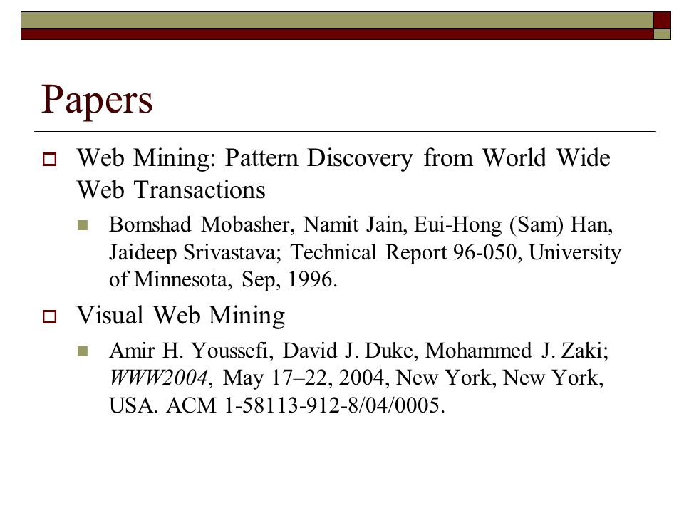 web mining essay We would like to show you a description here but the site won't allow us.