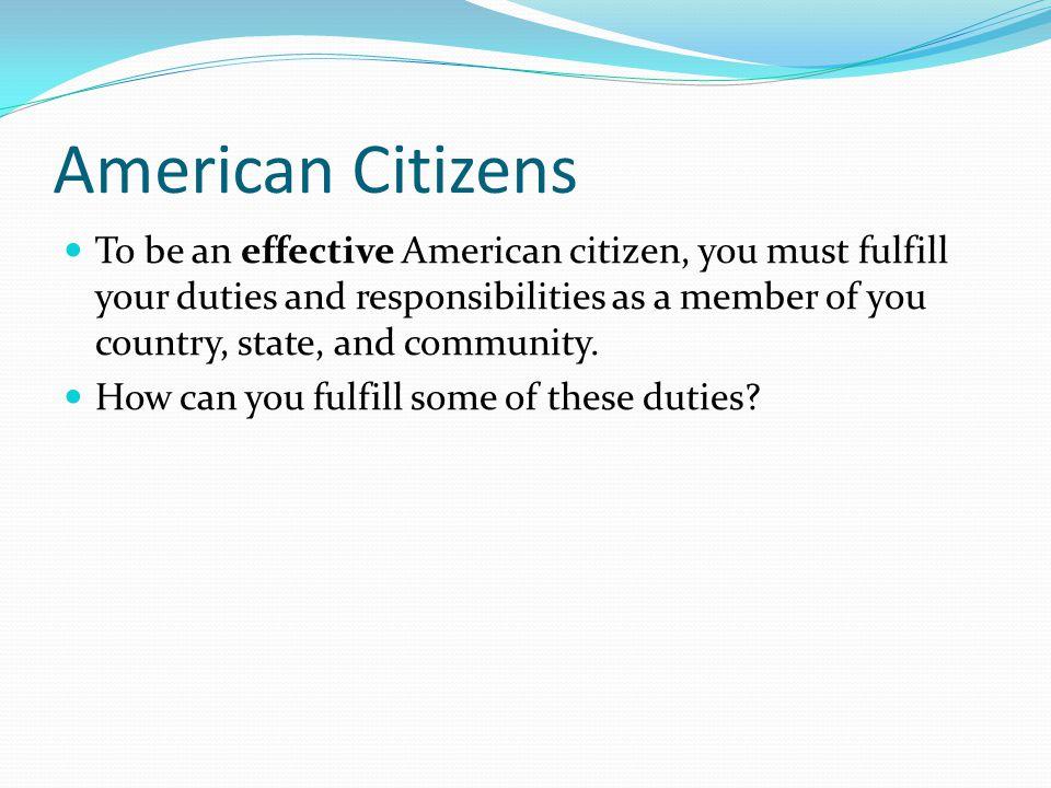 American Citizens
