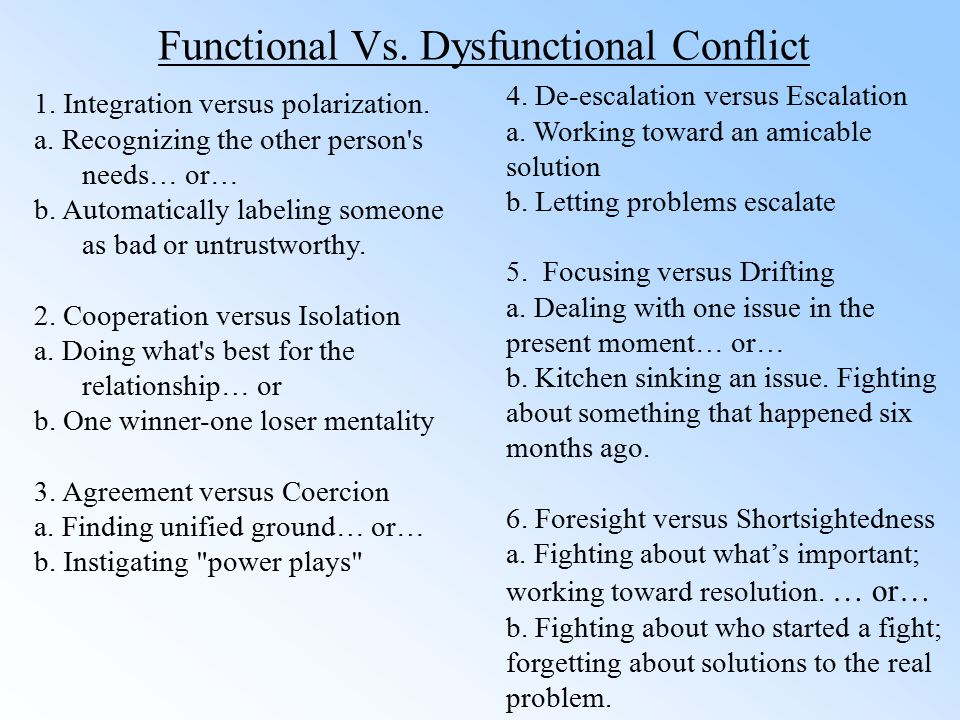What Is Functional Conflict?