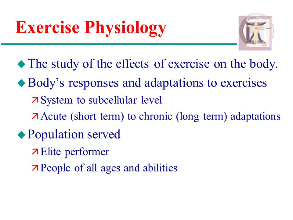 Physiologic responses to long term exercise