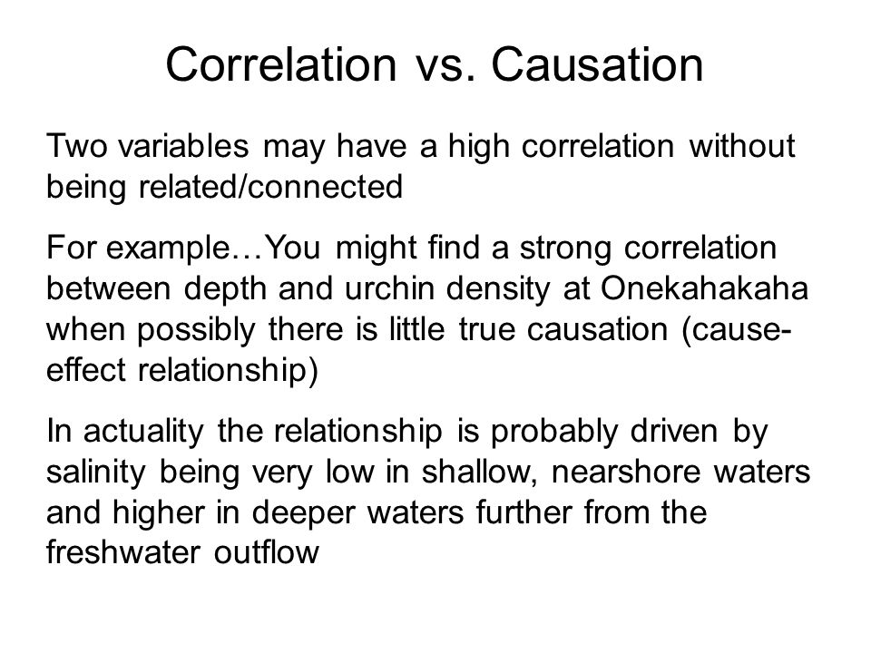 correlation vs causation What is causation causation is when a change in one quantity causes a change in a second quantity a correlation between quantities does not always imply.