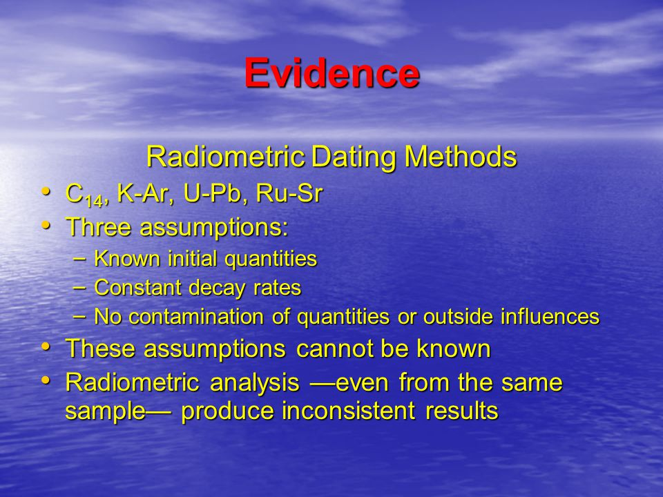 What Are The Types Of Radiometric Dating