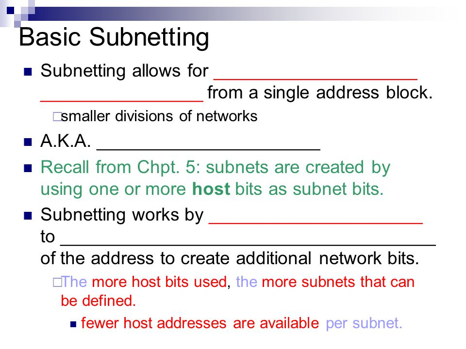 advantages of using subnetting Now when a company needs to increase its working unit under one network by  using the specific ip they can further divide the ip this is known as ip subnetting.