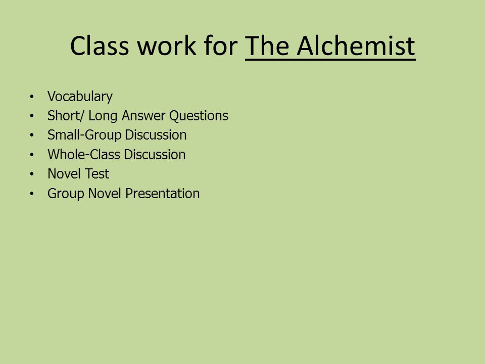 the alchemist by paulo coelho ppt video online class work for the alchemist