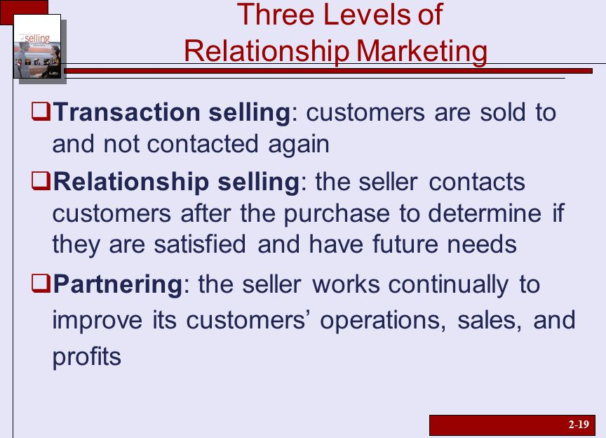 from marketing mix to relationship marketing The relevance of transactional and relational marketing variables in relational exchanges is now well established in the marketing literature however, the knowledge about their relative effectiveness and their optimal mix over time remains very sparse an analytical model is proposed to help determine optimal decision.