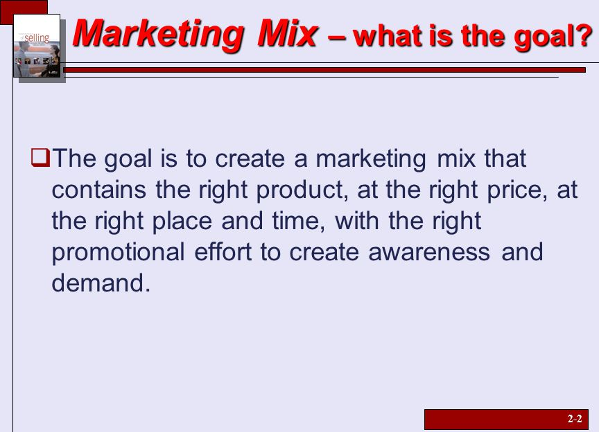 """the four elements of the marketing mix The term """"marketing mix"""" was coined in 1953 by neil borden in his american marketing  elements of the marketing mix are  the four principal elements."""