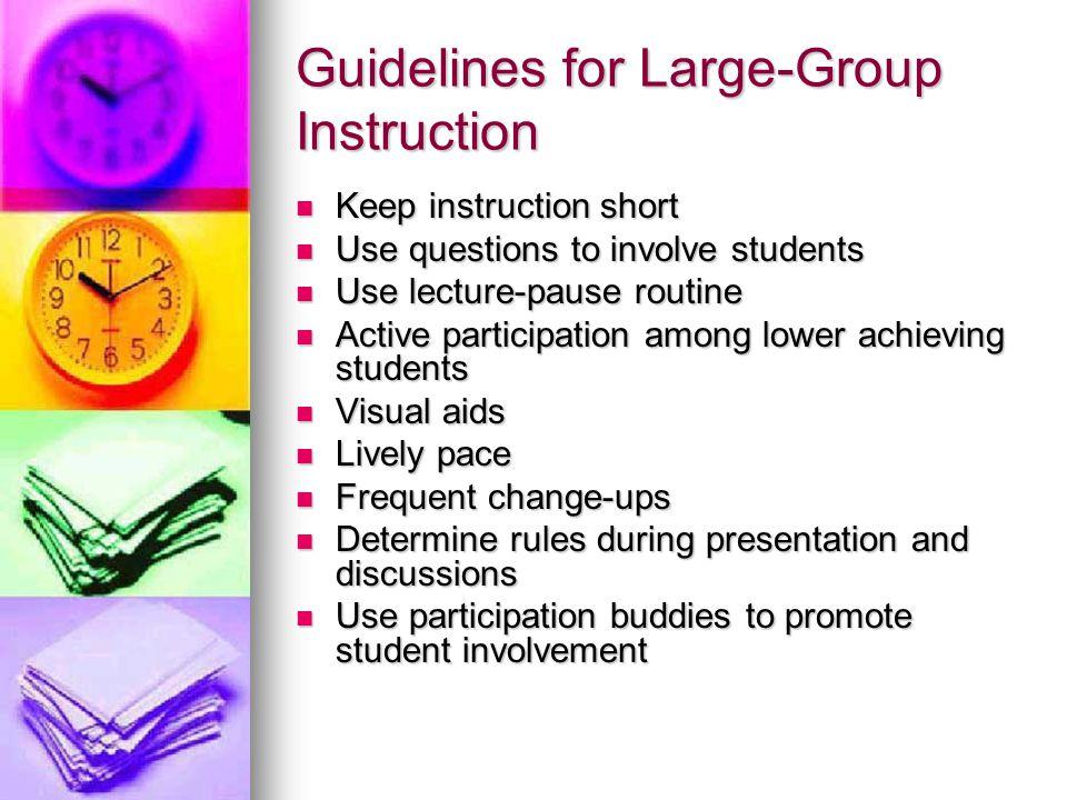 Large Group Instruction 91