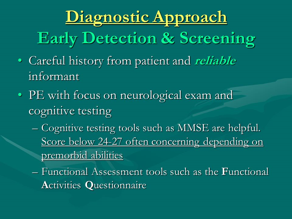 Diagnostic Approach Early Detection & Screening