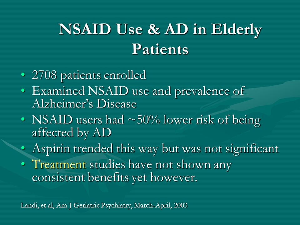 NSAID Use & AD in Elderly Patients