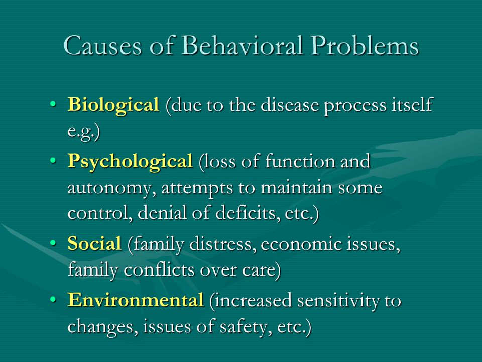 Causes of Behavioral Problems