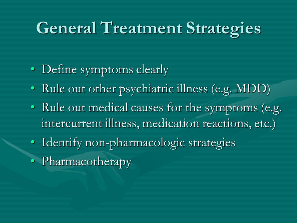General Treatment Strategies