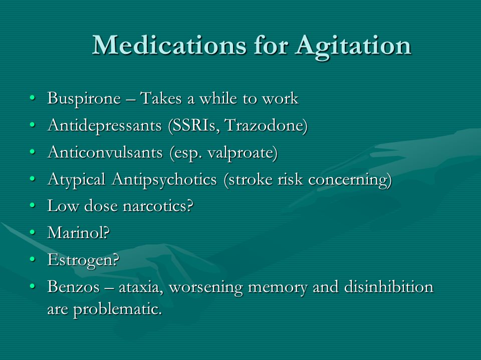 Medications for Agitation