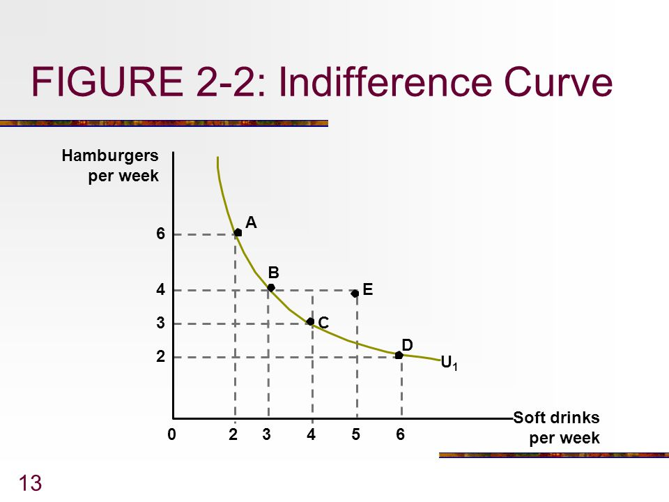 FIGURE 2-2: Indifference Curve