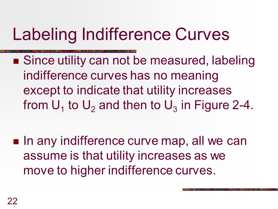 Labeling Indifference Curves