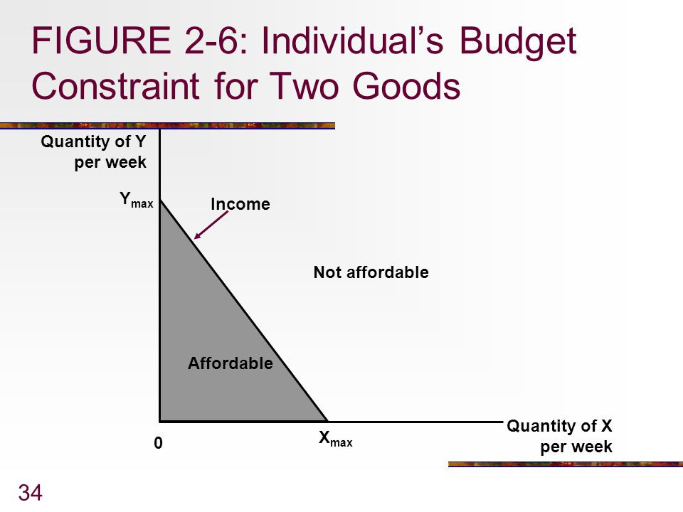 FIGURE 2-6: Individual's Budget Constraint for Two Goods