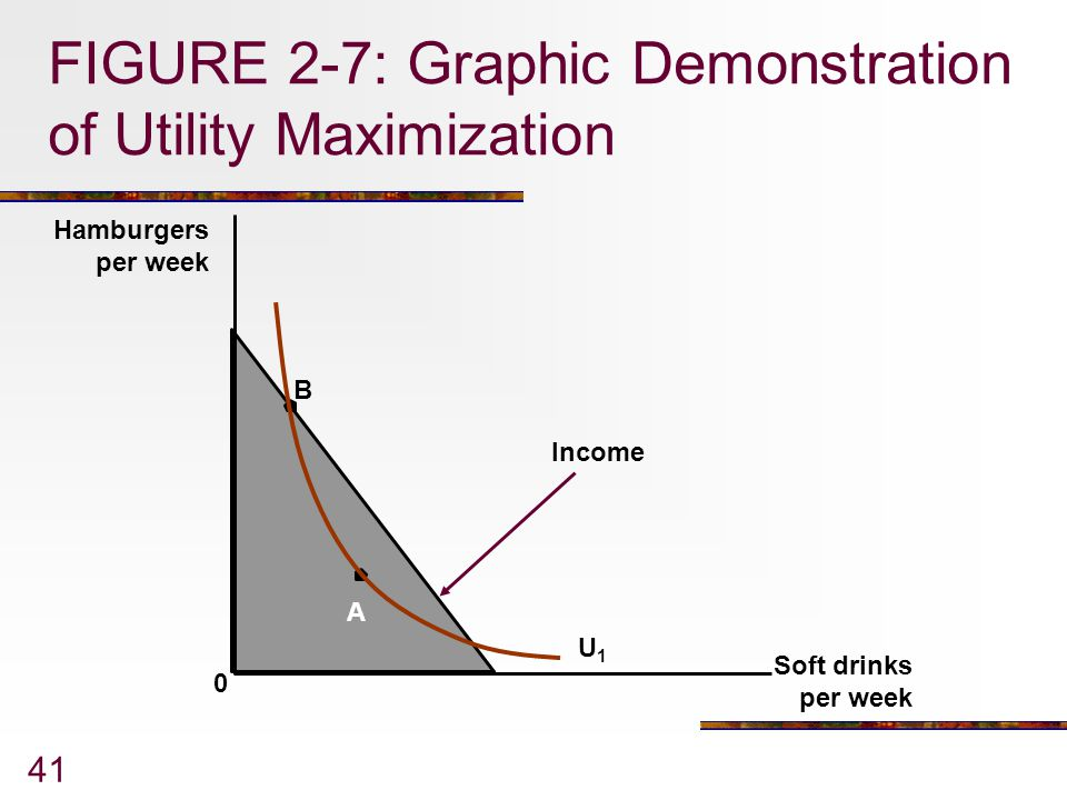 FIGURE 2-7: Graphic Demonstration of Utility Maximization