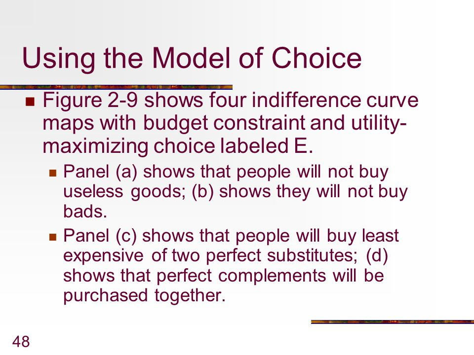 Using the Model of Choice