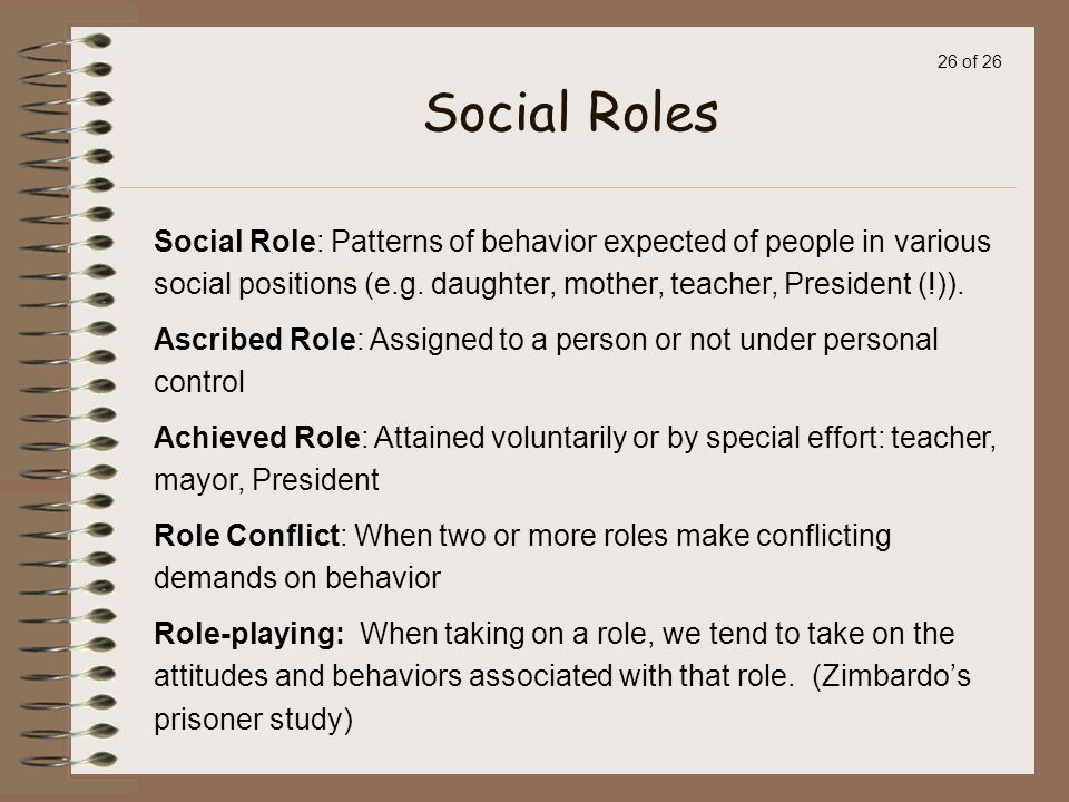 society and the roles we play zimbardo Video: social roles: definition and types of social roles this lesson focuses on the roles that society socially constructs we define social roles and identify examples.
