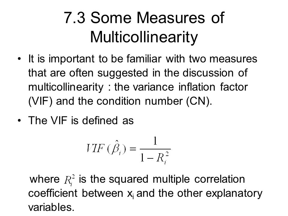 Chapter 7 Multicollinearity. - ppt download
