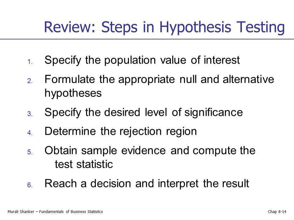 t test statistical hypothesis testing and level Hypothesis testing: hypothesis test, also known as statistical hypothesis test is a method of statistical inference since it is a hypothesis that is testable on the basis of observing a process that is modeled via a set of random variables, it is also referred to as confirmatory data analysis.