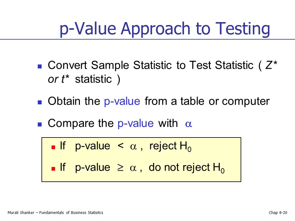 how to get the p value from a t test